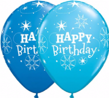Birthday Sparkle Blue - 11 Inch Balloons 25pcs